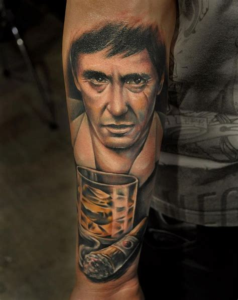 scarface tattoo designs al pacino by benjamin laukis tattoos