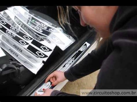 aplicação adesivo protetor de soleira personalizado para