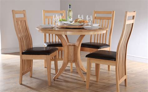 simple dining set round oak dining room table upholstered