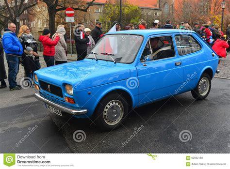 italian car fiat classic italian car fiat 127 on a parade editorial stock