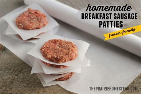 homemade breakfast sausage patties recipe