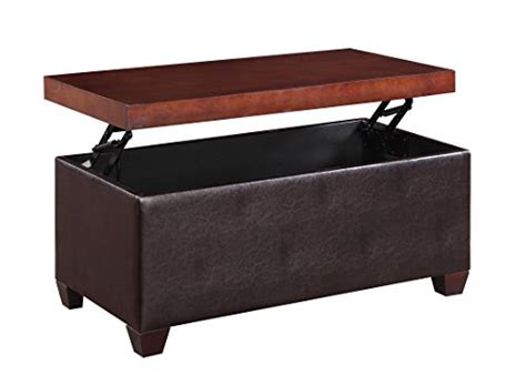 Lift Top Ottoman Coffee Table by H2o Lift Top Storage Coffee Table Upholstered Faux