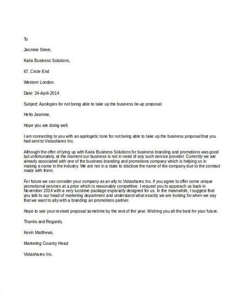 Rejection Letter Business Sle Rejection Letter 6 Exles In Word Pdf