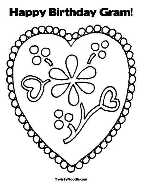 happy birthday heart coloring page happy birthday coloring pages for girls coloring home