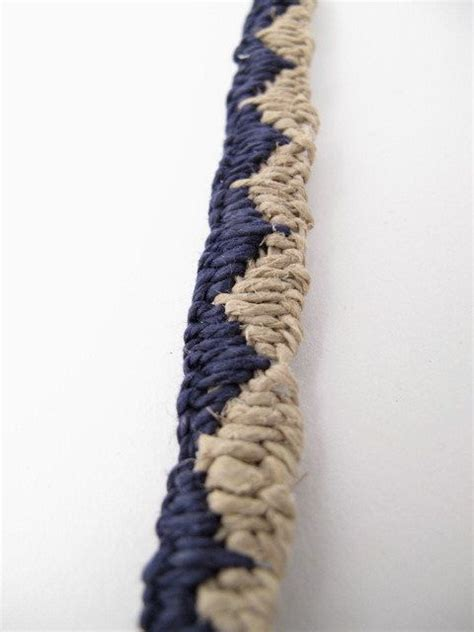 Cool Macrame Bracelet Patterns - macrame hemp jewelry anklet blue and white zig zag pattern