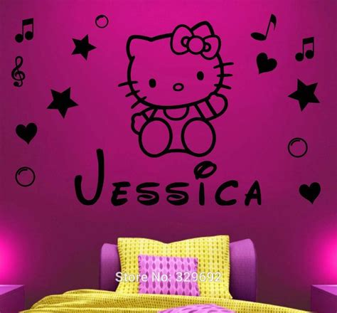 hello nursery decor free shipping personalized hello name wall decal