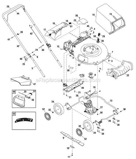 snapper lawn mower parts diagram snapper sp60 parts list and diagram ereplacementparts