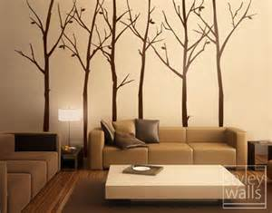 tree wall decal wall stickers forest from styleywalls on deer in the forest black grey wall sticker by zazous