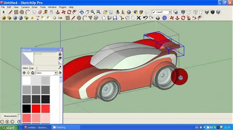 google sketchup robot tutorial how to make simple car in google sketchup tutorial 2 youtube