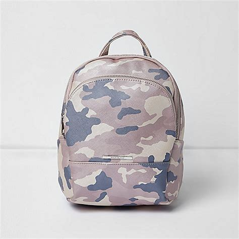 Camouflage Faux Leather Backpack pink camouflage print backpack bags bags