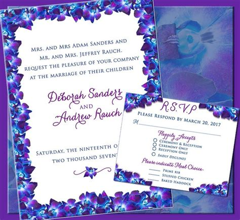 Orchid Theme Wedding Invitations by 25 Best Ideas About Orchid Wedding Invitations On
