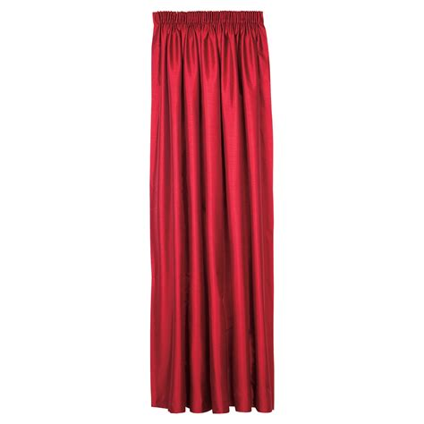 red faux silk pencil pleat lined curtains uk myshop