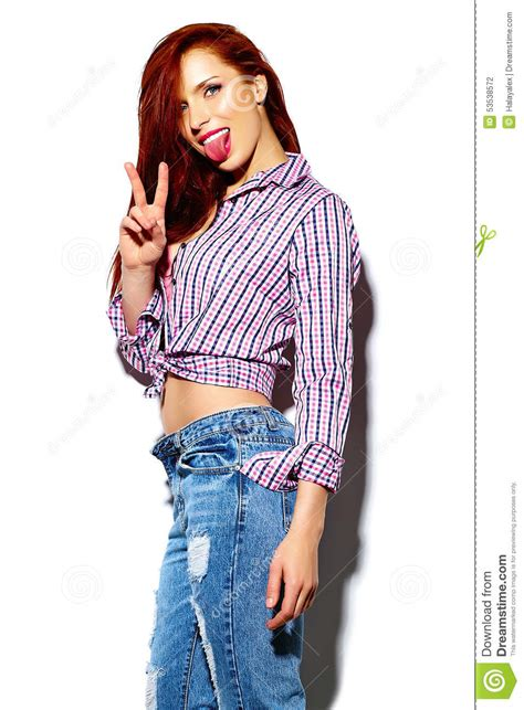 casual model girl funny stylish model girl in casual modern hipster cloth