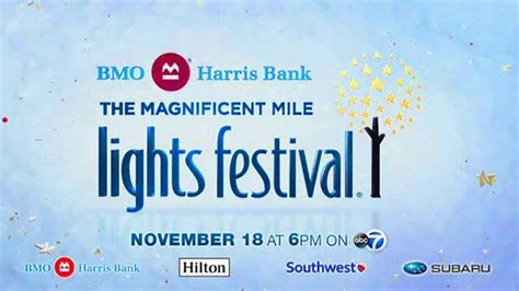 chicago lights festival 2017 bmo harris bank magnificent mile lights festival