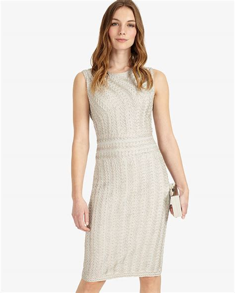 Lucia Dress lucia tapework dress silver phase eight