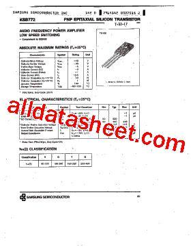 b772 datasheet pdf samsung semiconductor