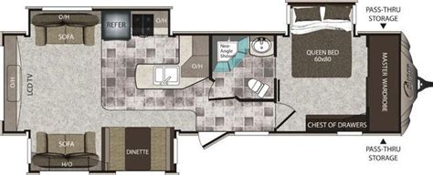 cougar travel trailers floor plans 2013 keystone cougar high country 321res travel trailer