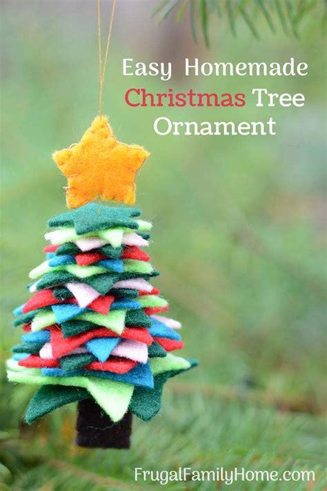 easy felt christmas tree ornaments