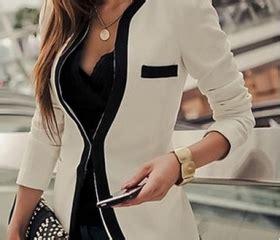 black white colors fashion new slim ladies womens suit