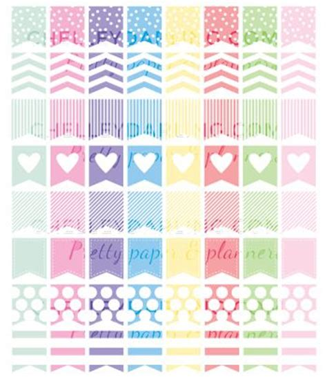 printable planner page flags free planner printables colorful page flags chelley