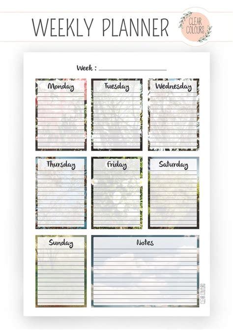 printable vertical weekly planner vertical weekly planner printable calendar template 2016