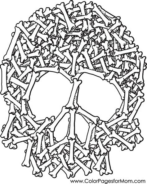 advanced coloring pages halloween skull and bones coloring