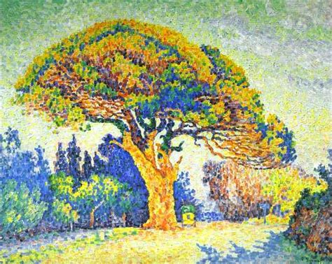 The Pine Tree the pine tree at st tropez 1909 paul signac wikiart org