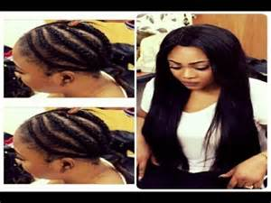 full sew in weave with a lace closure tutorials no glue