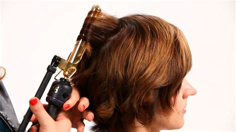 Using Curling Iron on Short Hair Pt. 1   Short Hairstyles