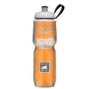 Polar insulated 24 oz water bottle solid color orange free shipping