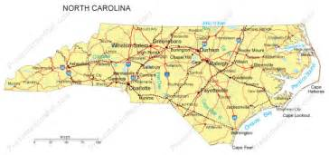 carolina powerpoint map counties major cities and