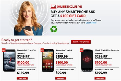 Verizon Trade In Gift Card - buying a new verizon smartphone trade in your current phone and receive 100 gift
