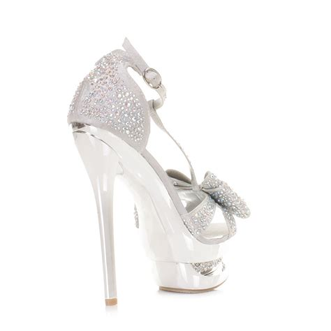 silver high heels with bows silver high heels with bows