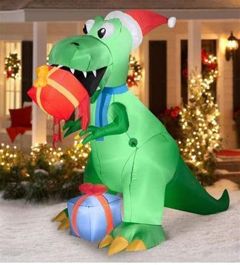 inflatable christmas prop 7 5 t rex airblown outdoor yard