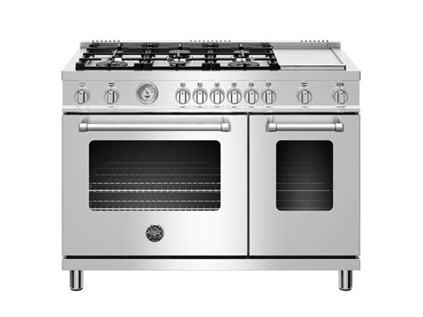 48 inch gas cooktop 48 inch all gas range 6 burner and griddle bertazzoni