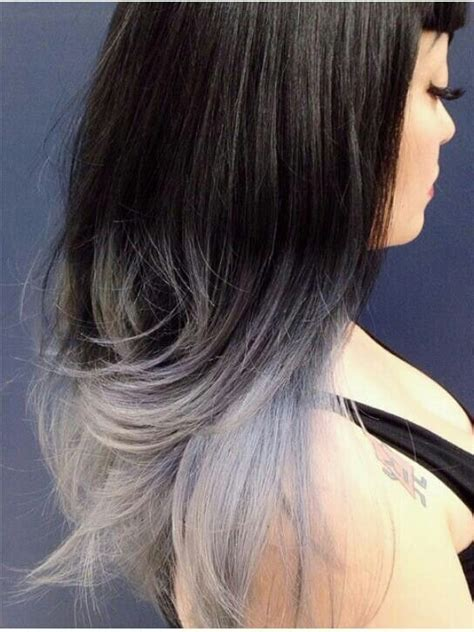 ombre double top grey grey ombre hair ideas pinterest nottingham grey