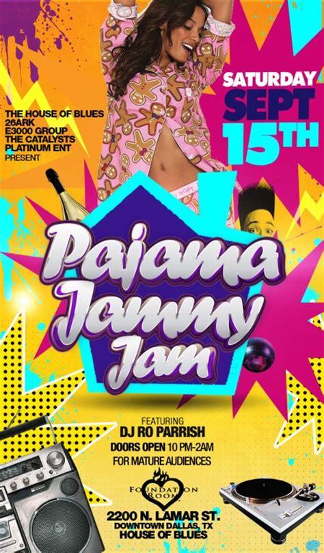 pajama sexy party flyer template louis twelve