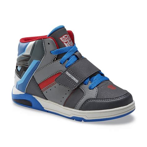 transformers sneakers transformers boy s gray blue light up high top