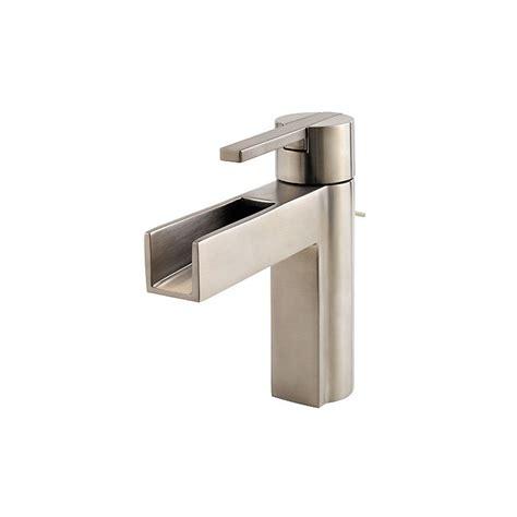 lowes single hole bathroom faucets pfister vega brushed nickel 1 handle single hole 4 in