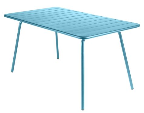 Rectangular Table L Luxembourg Table Rectangular 6 Persons L 143 Cm Turquoise By Fermob
