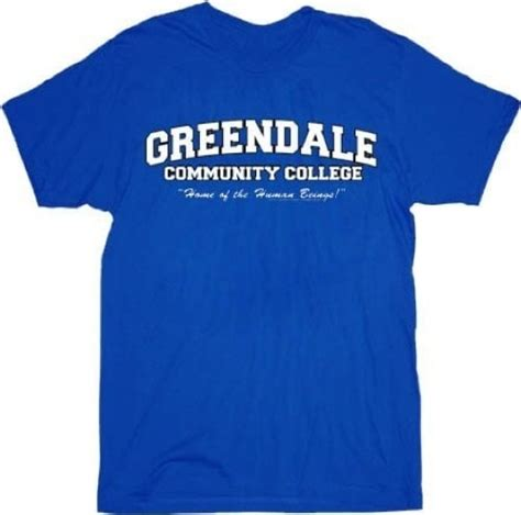 Tshirt Kaos Greendale Being Human community greendale community college gcc human beings