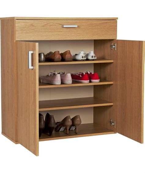 argos shoe cupboard storage buy venetia shoe storage unit oak effect at argos co uk