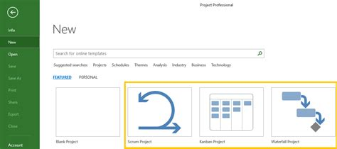 Management Yogi Microsoft Project 2016 Brings New Agile Features Agile Feature Template