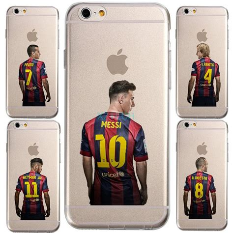 Espana Match 1 Iphone Iphone 6 7 5s Oppo F1s Redmi S6 Vivo transparent messi spain barcelona club jersey for