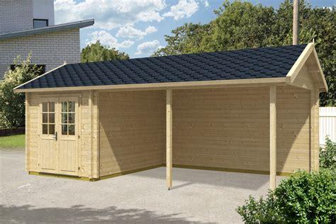 carport mit gerätehaus carport mit ger 228 teraum arthur 21m 178 70mm 3x7