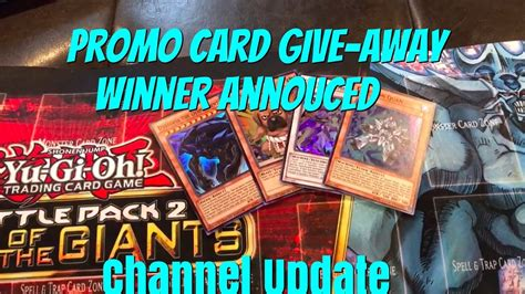 Free Yugioh Cards Giveaway - yugioh promo card giveaway winner announced channel update youtube