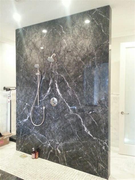 marble bathroom shower walls grigio carnico marble slab shower wall seam is