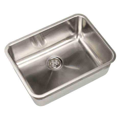 American Standard Kitchen Sinks American Standard Prevoir Undermount Brushed Stainless Steel 24 In Single Basin Kitchen Sink