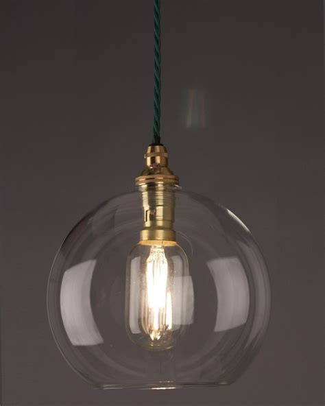 Handmade Lighting Uk - clear glass globe ceiling pendant light hereford retro