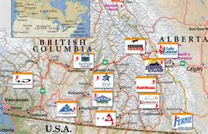 western canada ski resorts map skiing in canada ski holidays in canada canadian ski